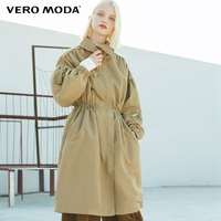 Vero Moda Fall Lapel Zip Front Cinched Waist Medium style Lace up Coat Jacket | 318321516