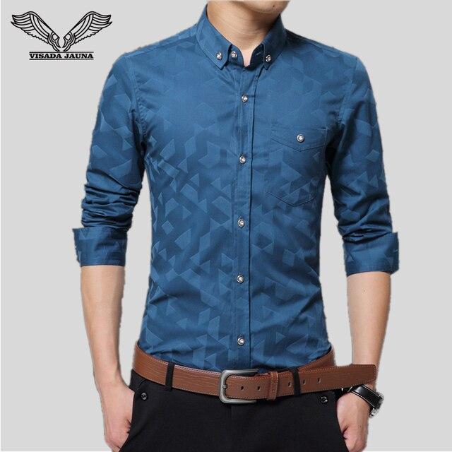 Мужские Рубашки 2016 Новый Сплошной Цвет Тонкий Тонкий Повседневная Одежда Бренда Человек Платье Сорочка Homme Бизнес Camisa Социальной Masculina N809