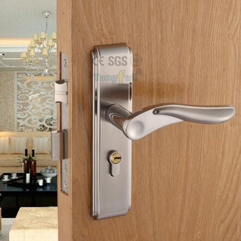 new metal handle special steel alloy door locks frame