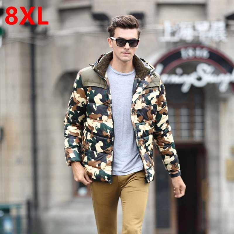 Free shipping Down coat winter male plus size 7XL Camouflage 8xl fat people down coat larger size casual outerwear 6XL 5XL 4XL