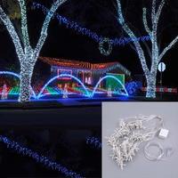 3M X 3M 448LED 110V US Plug Christmas String Fairy Wedding Curtain Light ABS IP65 Waterproof