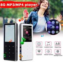 With TF/SD Slot 8GB 2.4Inch LCD 240x320 Screen for bluetooth MP3 MP4 TF Card Music Player E-book Speaker Mini Walkman(China)