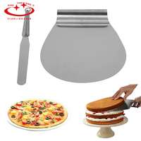 1 Set Kitchen Stainless Steel Cake Pizza Transfer Cake Shovel Baking Tools Cake Tray Moving Plate Bread Pizza Cutting Tools