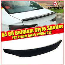 цена на FRP Unpainted Rear Trunk Boot Lip Spoiler Tail Fits For Audi A4 B8 Coupe Belgium Style Boot Lip wing Spoiler car styling 2009-12