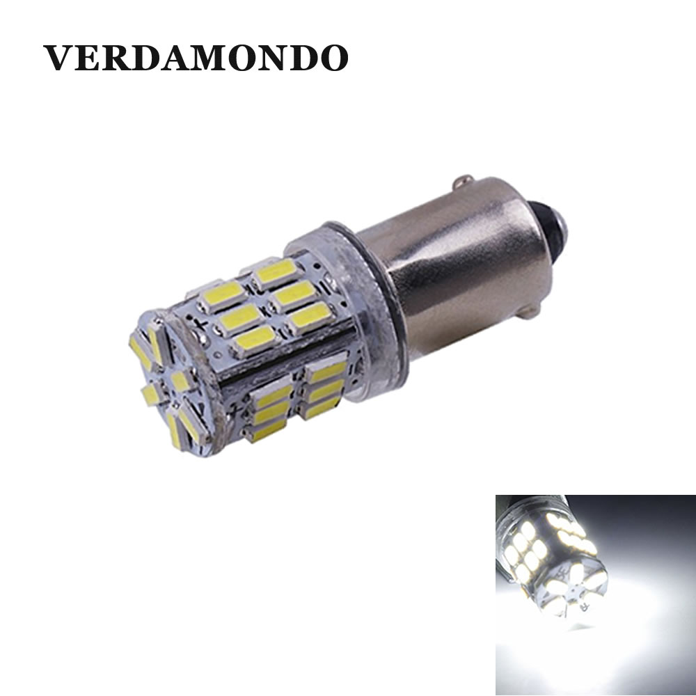 1Pcs BA9S 30 SMD 3014 Led Bulbs T4W Car Styling Led Indicator Light Parking Lamp Turn Light 300Lm Screw Base Led White