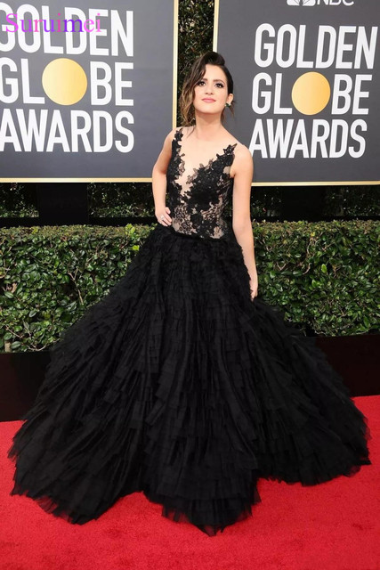 9b59d2586552 Back Lace 2019 Laura Marano 75th Annual Golden Globe Awards Party Dresses  A-Line Sleeveless Evening Gown Sexy Backless