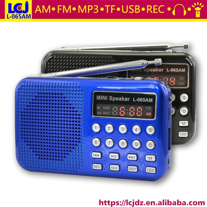Radio PüNktlich 10 Stücke L-065am Tragbare Mini-micro Tasche Digitale Am Fm Radio Scanner Mit Tf Mp3 Musik-player Led-taschenlampe Und Stimme Recorder Tragbares Audio & Video