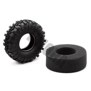 "Image 4 - 4PCS 1.9"" Rubber Tyre / Wheel Tires for 1:10 RC Rock Crawler Axial SCX10 90046 AXI03007 Tamiya CC01 D90 D110"