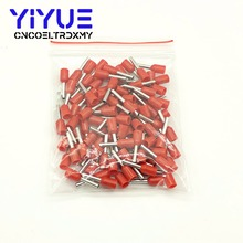 цена на E0508 Tube insulating Insulated terminals 0.5MM2 Cable Wire Connector Insulating Crimp Terminal 100PCS/Pack Connector E