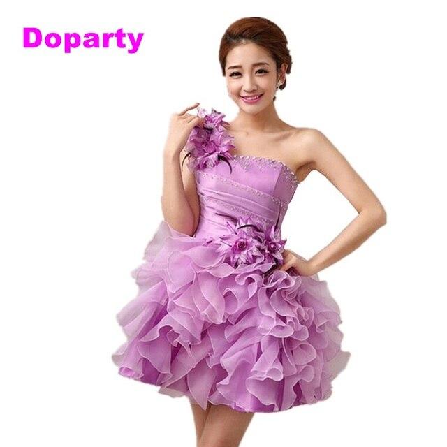 Doparty couture barato corto Gris de encaje sexy de noche elegante ...