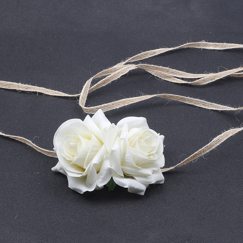 White big Rose Flower Tiaras Crowns Headband Black Vintage Girls Festival kids Hair Accessories photography props in Women 39 s Hair Accessories from Apparel Accessories