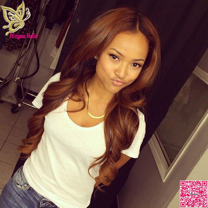 Honey Blonde Full Lace Human Hair Wigs Loose Wave Virgin