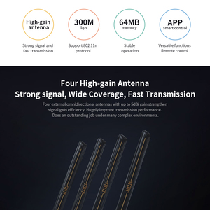 Image 3 - シャオ mi mi 無線 Lan ルータ 4C Roteador アプリ制御 64 RAM 802.11 b/g/n 2.4 グラム 300 150mbps 4 アンテナ無線ルータリピータホーム