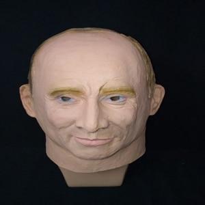 Image 5 - الرئيس الروسي فلاديمير بوتين قناع اللاتكس كامل الوجه هالوين أقنعة مطاطية حفلة تنكرية الكبار تأثيري الدعائم بدلة فاخرة