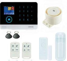 Pantalla táctil RFID Wifi Inalámbrica GSM de Marcado Automático Casa Casa Oficina Antirrobo Sistemas de Alarma de Seguridad