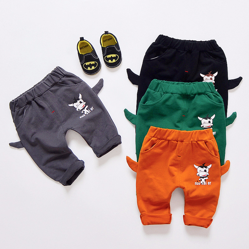 2018 Baby Girl Boy Fashion Infant Cartoon Cow PP Pants Boys Girls Trousers Children Cotton Pant