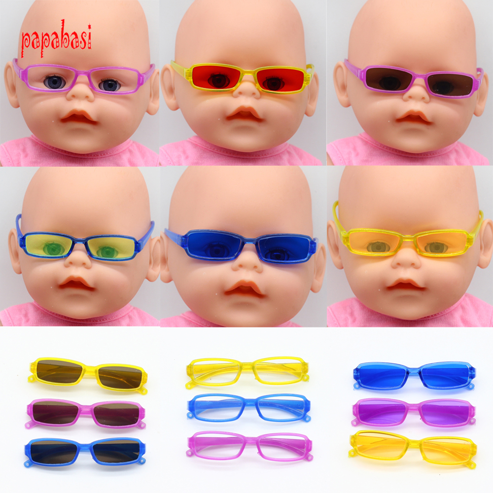 1pcs Dolls Accessories Different Plastic Glasses For 18inch American Girl doll For BJD blyth Doll the best Christmas gift new style doll accessories round shaped glasses sunglasses suitable for 1 3 bjd dolls mini doll glasses for dolls good quality