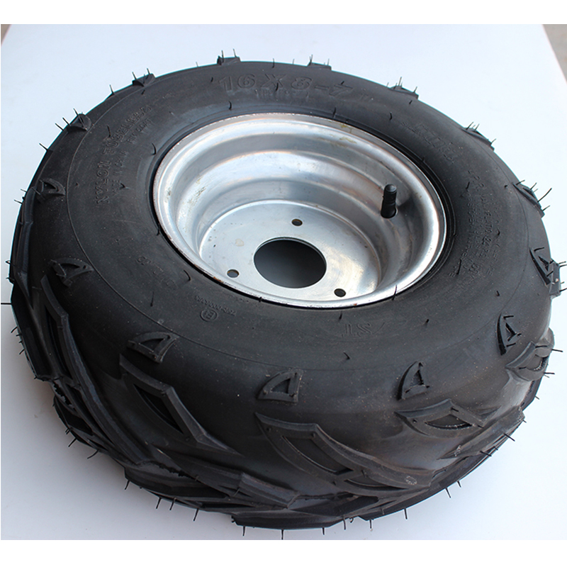 Tubeless Tire ATV Tire 16X8-7 Vacuum Tire with Hub fits Beach Car Kart Small Bull 16 X 8 - 7 vacuum tire 6 layer 130 90 15