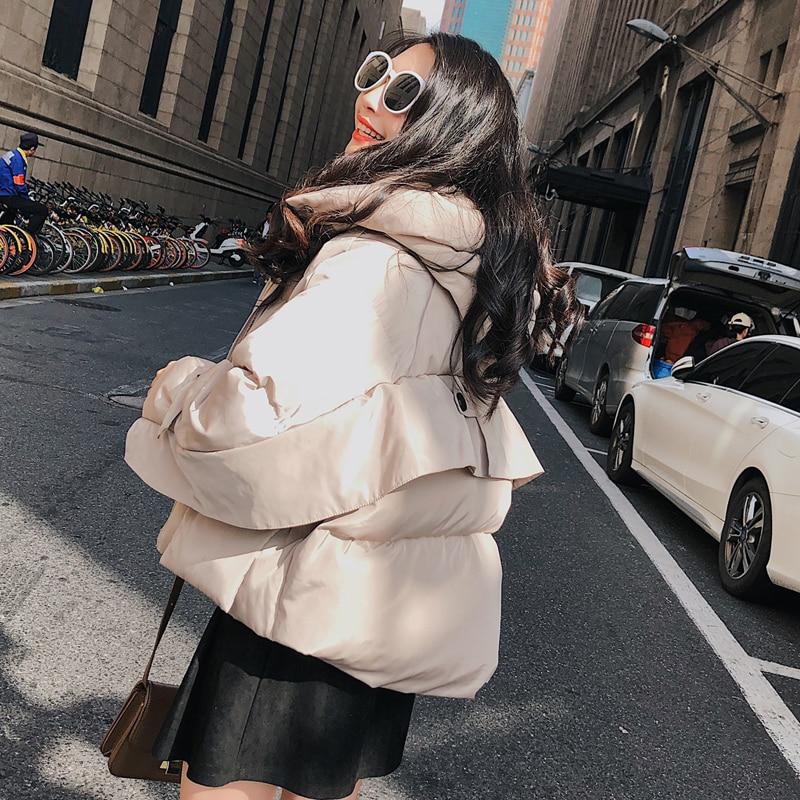 Coton Femmes Zx1107 Casual Confortable Femelle Baisse rose Lâche Hiver Mode Zipper Épaule À Capuchon Red White Survêtement Ruches Nouvelle Creamy 8wwgdqA