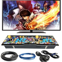 Marwey 999 Classic Games High Definition Metal Box 2 Players Controller Arcade Game Station Console