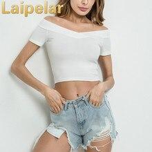 купить New Hot 2018 Short Sleeves Tops Sexy Cool Basic Tees Cropped Tops Fashion Slim Brand Fitting Short Tops Corset Clubwear Blusa по цене 403.16 рублей