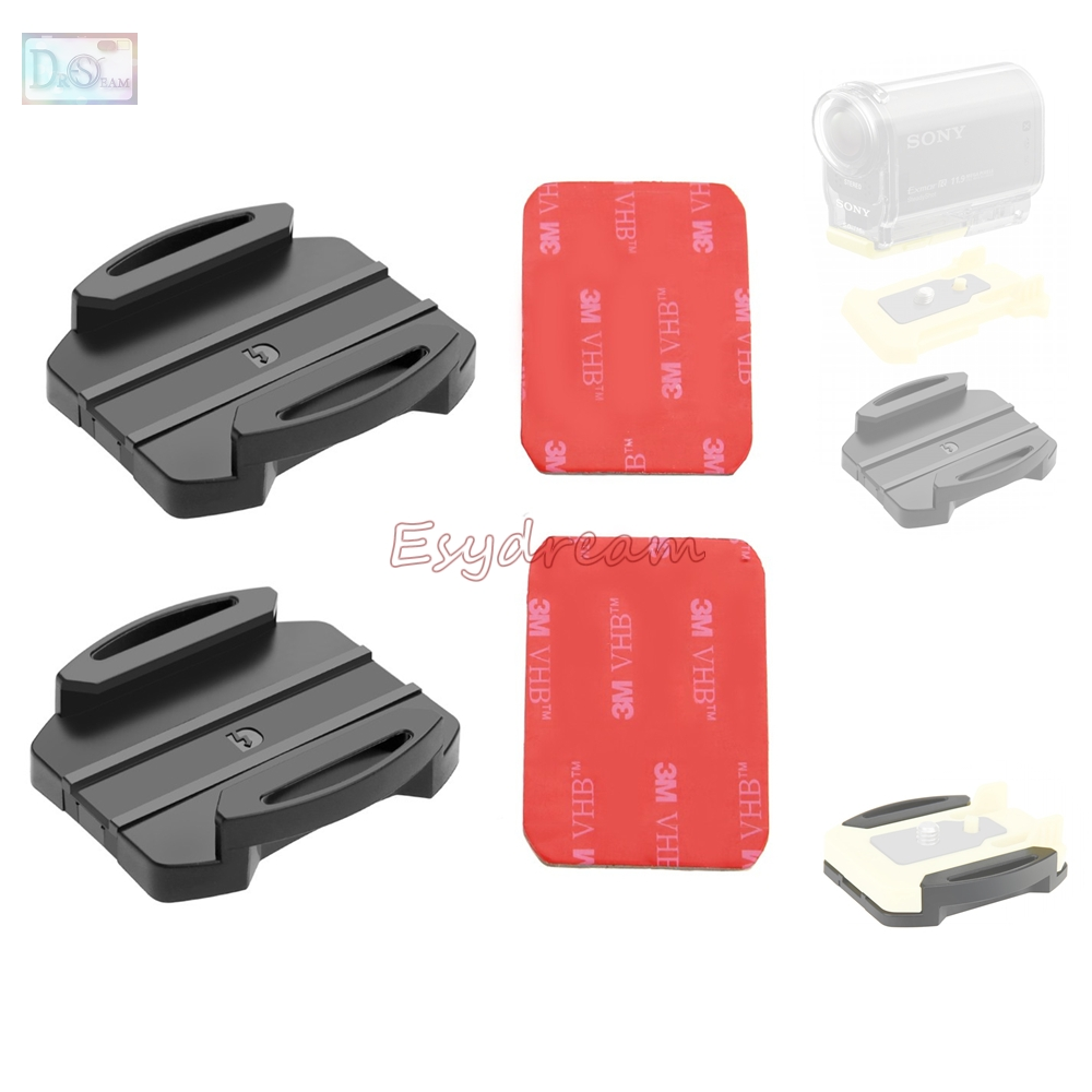 2 Flat Surface Mount + 2 Adhesive Sticker For Sony Action FDR-X3000 HDR-AS100V HDR AS15 AS20 AS300 AS200V AS100V Replace VCT-AM1