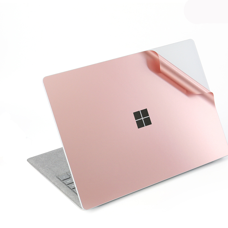 For Microsoft Surface Laptop Decals Anti-scratch Waterproof Sticker, Rose Gold Premium Removable Full Body Protective Skin Cover