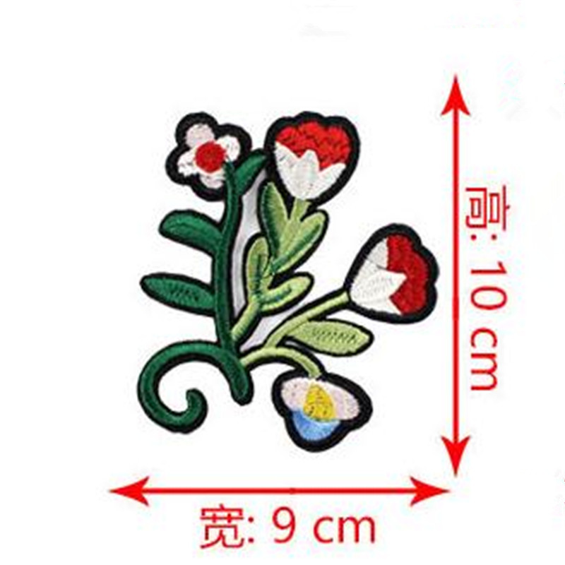 Women boy clothes embroidery floret patch deal with it 10cm flower iron on patches for clothing t shirt/jeans free shipping