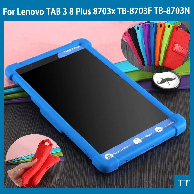 Silicon Cover Case For Lenovo TAB 3 8 Plus 8703x TB-8703F TB-8703N 8.0