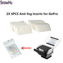 SnowHu 12pcs Anti Fog Inserts For Gopro Hero 8 7 6 Xiaomi forYi 4K SJ4000 Camera Case Drying Inserts Mount Diving Accessory GP89(China)