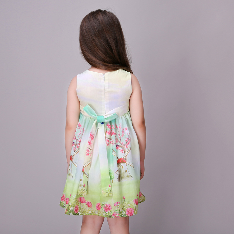 b5c4cdb1b Summer Girls Dress Monsoon Cute Baby Girls Frocks Designs Sleeveless ...