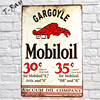 Mobiloil Gargoyle 30 35 Oil Company Wall Sticker Vintage Metal Sign For Garage Pub Cafe Wall