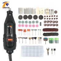 Tungfull Electric Drills Flex Shaft Engraver 220v Mini Drill Machine Set For Dremel 4000 3000 Rotary Tool Accessories