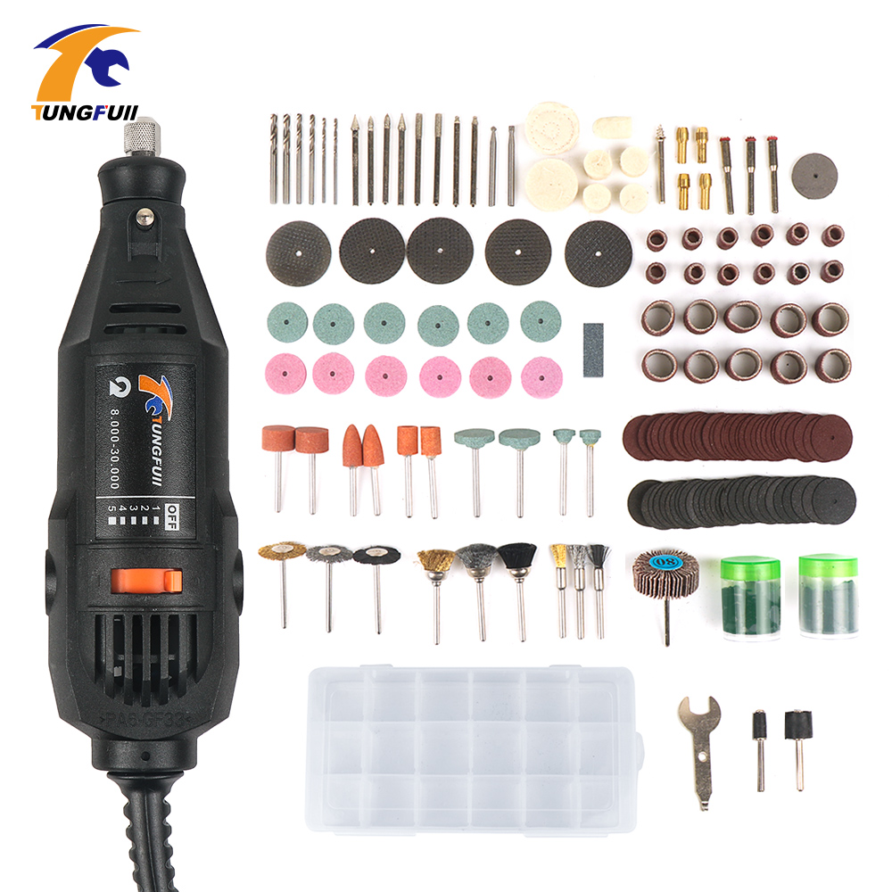 Tungfull Electric Drills Flex Shaft Engraver 220v Mini Drill Machine Set For Dremel 4000 3000 Rotary Tool Accessories