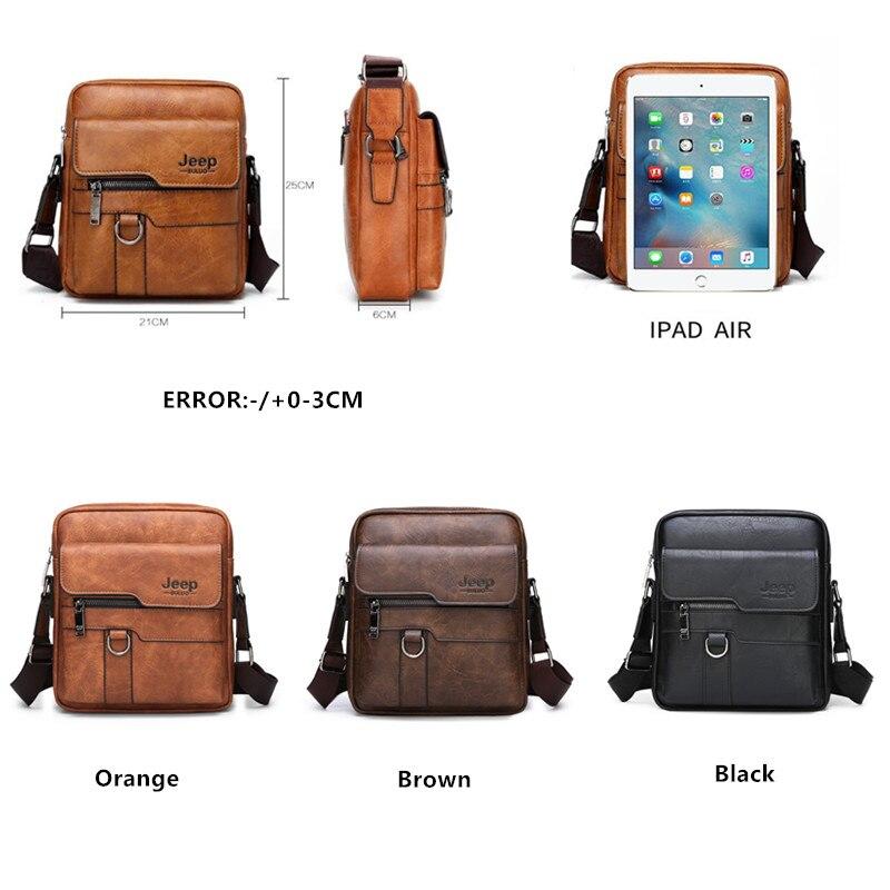 Image 2 - JEEP BULUO, роскошные Брендовые мужские сумки мессенджеры, через плечо, деловые повседневные сумки, мужская кожаная сумка на плечо, большая ВМЕСТИТЕЛЬНОСТЬ