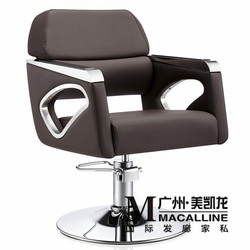 European hairdressing chair solid wood cutting. Luxury Italian hair salon chair. The new barber's chair