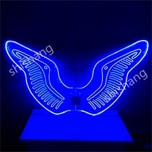 CY07 Men Acrylic LED lights dance wings belly party event women dress ballroom luminous glowing costumes
