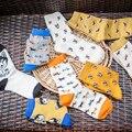 Calidad de la manera Nuevo creativo Hombres Mujeres Algodón Calcetines Animales Zoo Ovejas Perro Fox tubo neutral de dibujos animados Mujeres calcetines Encantadores al por mayor