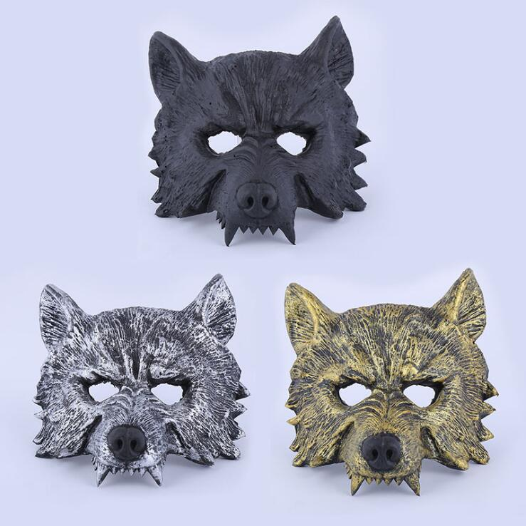 US $11 5 |Lifelike Wolf Mask 3 colors 150G Animal Mask Masquerade Xmas  Party Halloween Vintage masks YT11-in Party Masks from Home & Garden on