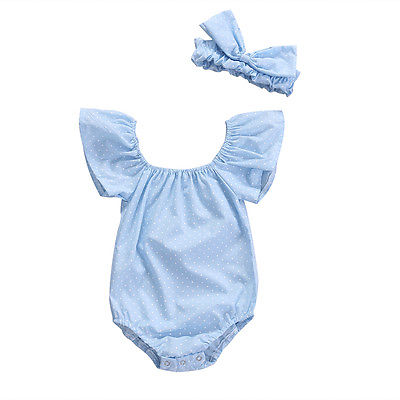 Pudcoco Cute Newborn Baby Girls Romper Jumpsuit Headband Outfits Summer Ruffle Off Shoulder Clothes Cotton One-Piece 2pcs micoe hot and cold water basin faucet mixer single handle single hole modern style chrome tap square multi function m hc203
