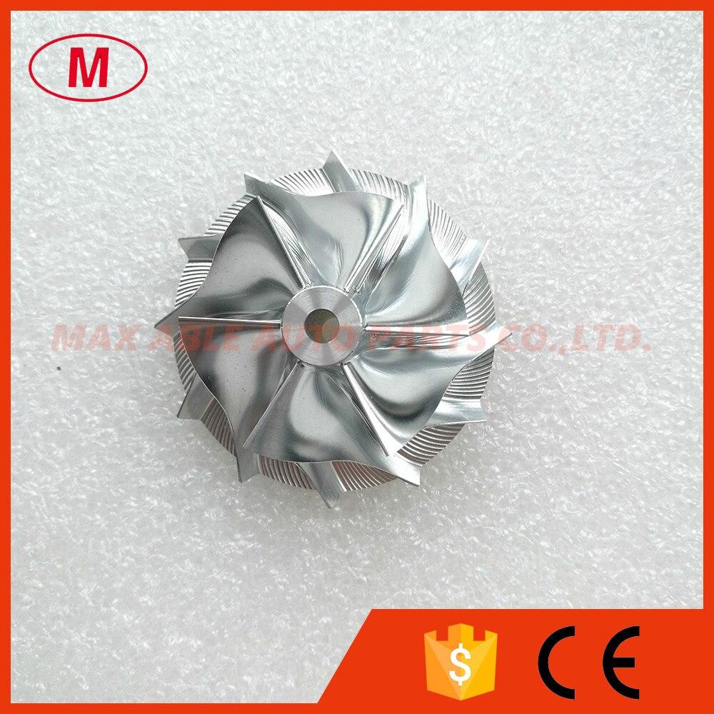 GT15-25 702549-0008 высокопроизводительный турбокомпрессор из алюминия 2024/Фрезерование/заготовка компрессорного колеса 44,42/59,48 мм 6 + 6 лезвий