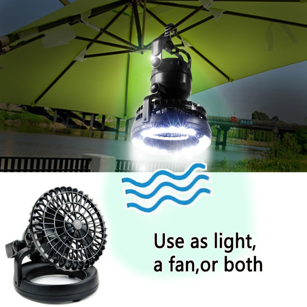 Portable Led Camping Lantern Ceiling Fan Outdoor 2 In 1 Battery Powered Emergency Light Flashlight Lanterns From