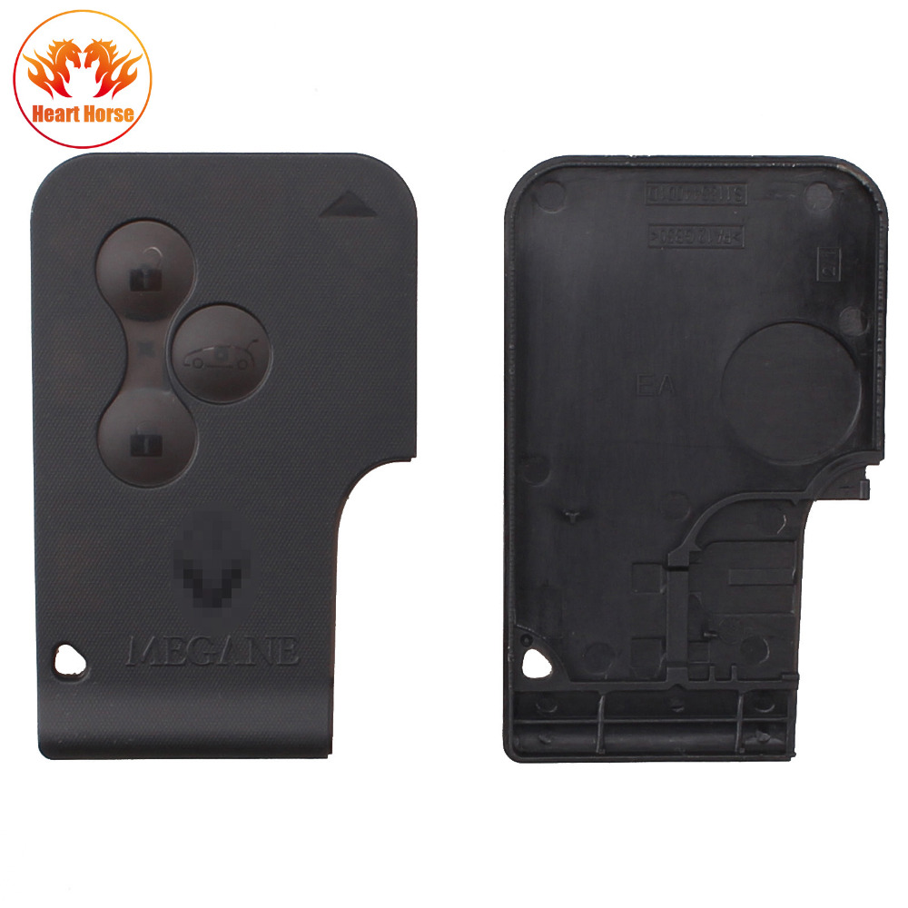 new 3 buttons key card card case replacement remote. Black Bedroom Furniture Sets. Home Design Ideas