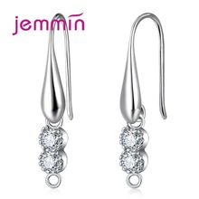 Jemmin Brand High Fine 925 Sterling Silver Crystal Handmade DIY Jewelry U- Shaped Clasp Hooks Earring Components Accessory