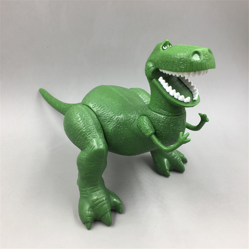 1piece 22cm <font><b>Toy</b></font> Story 3 Rex the Green <font><b>Dinosaur</b></font> PVC Action Figure <font><b>Toy</b></font> Birthday Christmas New Year Gift joints Movable image