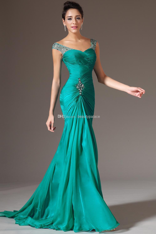 2015 new arrival mermaid chiffon prom dresses beautiful formal ...