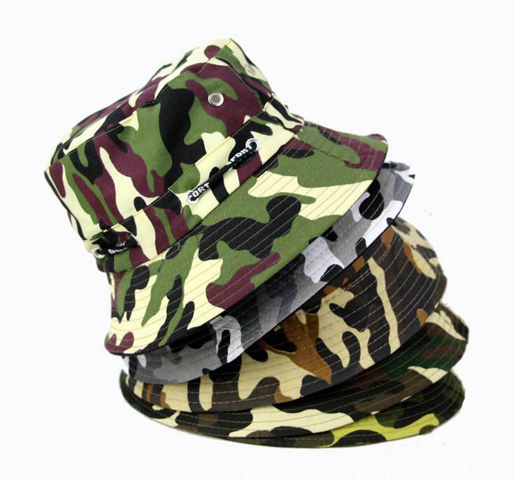 f72c67f7c24 Retail Men Hats Camouflage Bucket Hats Sun Caps Women Hat Around Caps Free  Shipping 6.77 €