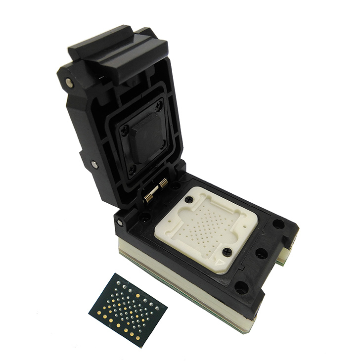 LGA60 TO DIP48 Pogo Pin Flash Programmer Adapter IC Test Socket LGA60 Burn in Socket Clamshell Structure iphone NAND programmer цена