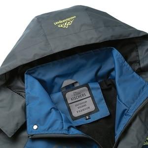 Image 5 - Jaqueta masculina à prova dágua com capuz, casaco esportivo quente e macio com capuz, para outono e inverno, blusão casual para homens, com zíper