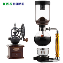 Coffee Syphon Pot Heat Resistant Glass Siphon Manual Maker Siphon Vacuum Pot Kitchen Tools 3-5 Cups Syphon Coffee Machine